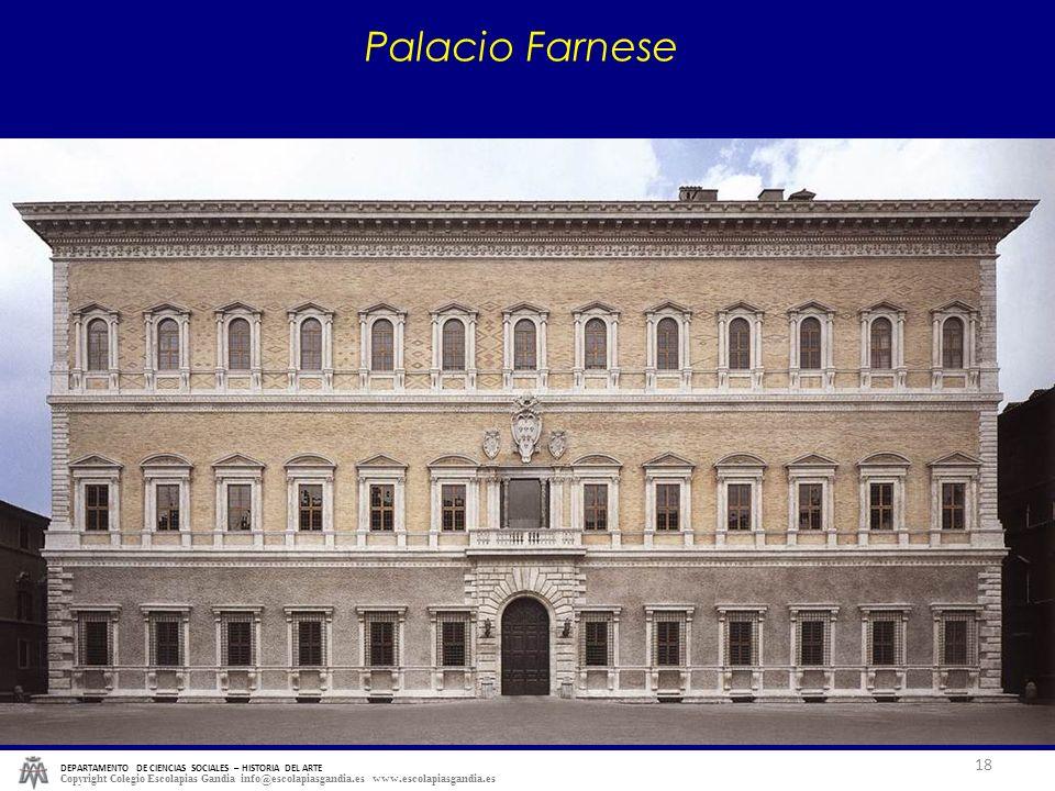 Palacio Farnese DEPARTAMENTO DE CIENCIAS SOCIALES – HISTORIA DEL ARTE.