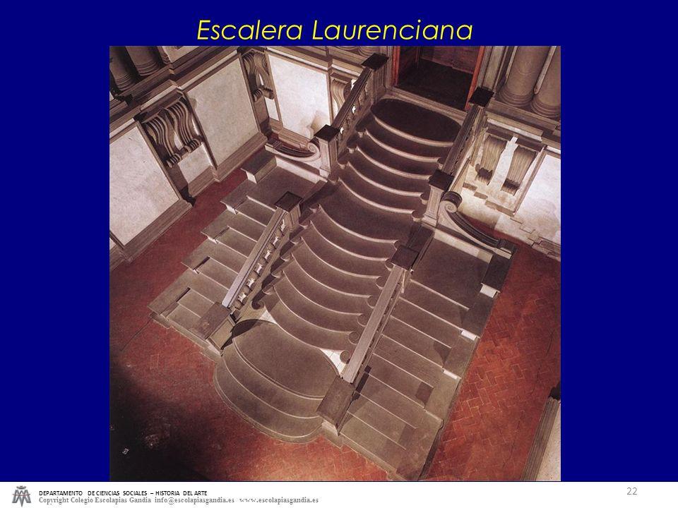 Escalera Laurenciana DEPARTAMENTO DE CIENCIAS SOCIALES – HISTORIA DEL ARTE.