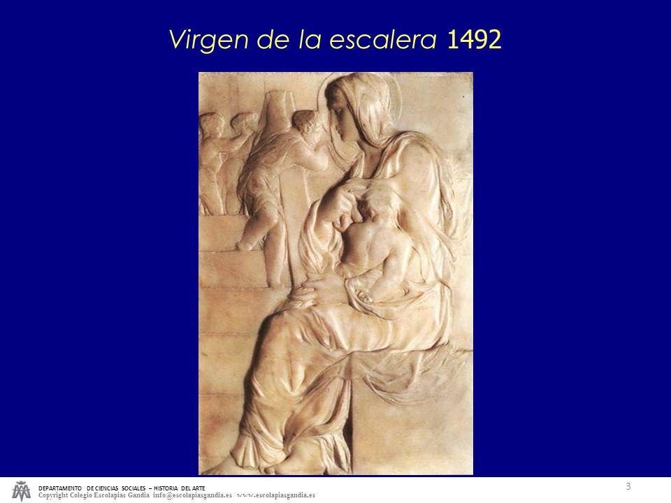 Virgen de la escalera 1492 DEPARTAMENTO DE CIENCIAS SOCIALES – HISTORIA DEL ARTE.