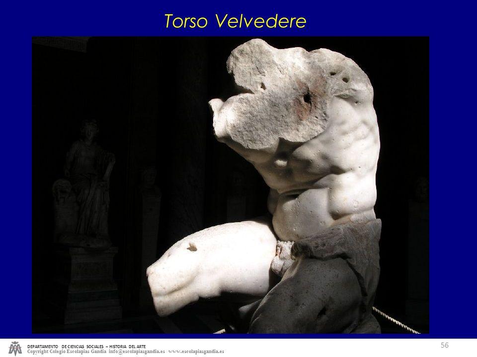 Torso Velvedere DEPARTAMENTO DE CIENCIAS SOCIALES – HISTORIA DEL ARTE.