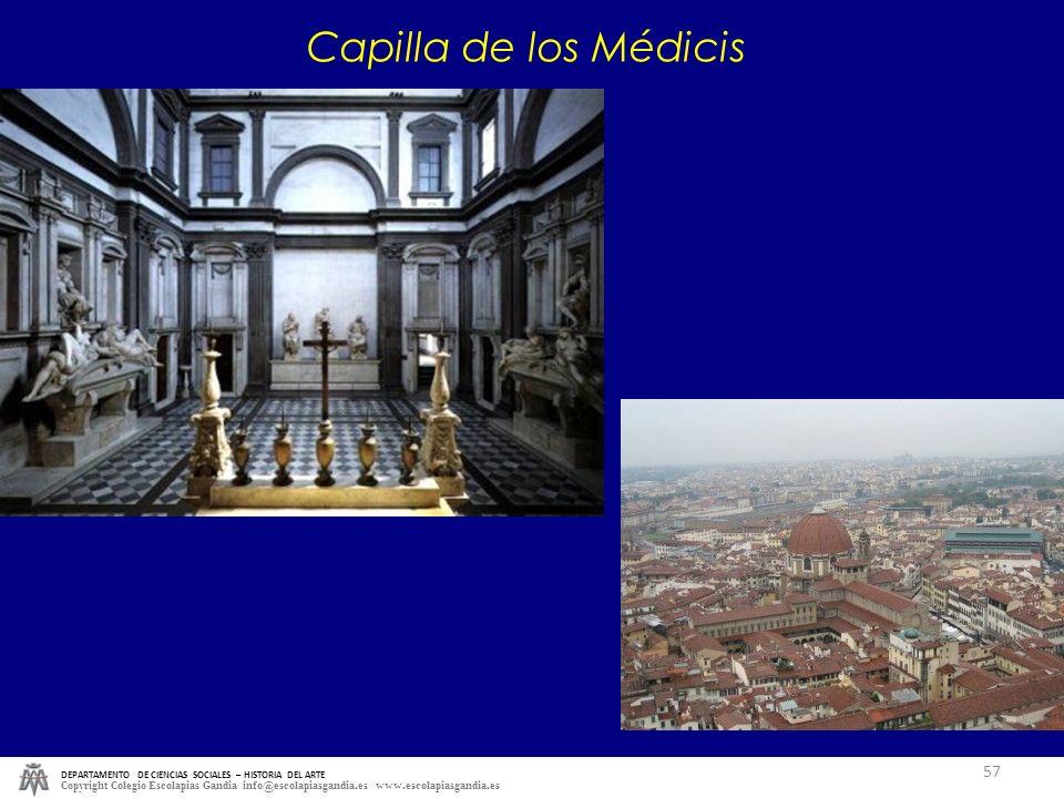 Capilla de los Médicis DEPARTAMENTO DE CIENCIAS SOCIALES – HISTORIA DEL ARTE.