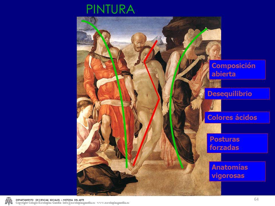 PINTURA Composición abierta Desequilibrio Colores ácidos