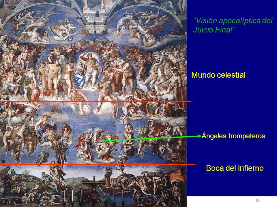 MANIERISMO Visión apocalíptica del Juicio Final Mundo celestial