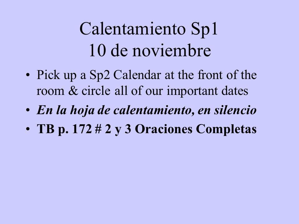 Calentamiento Sp1 10 de noviembre