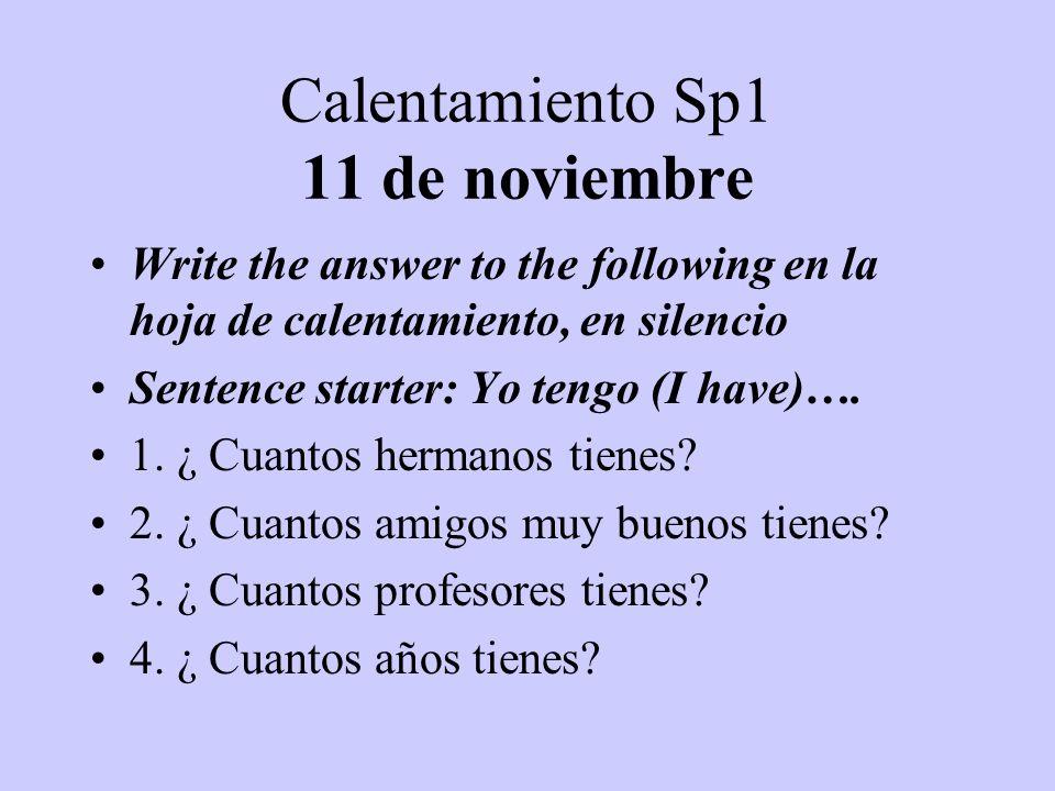 Calentamiento Sp1 11 de noviembre