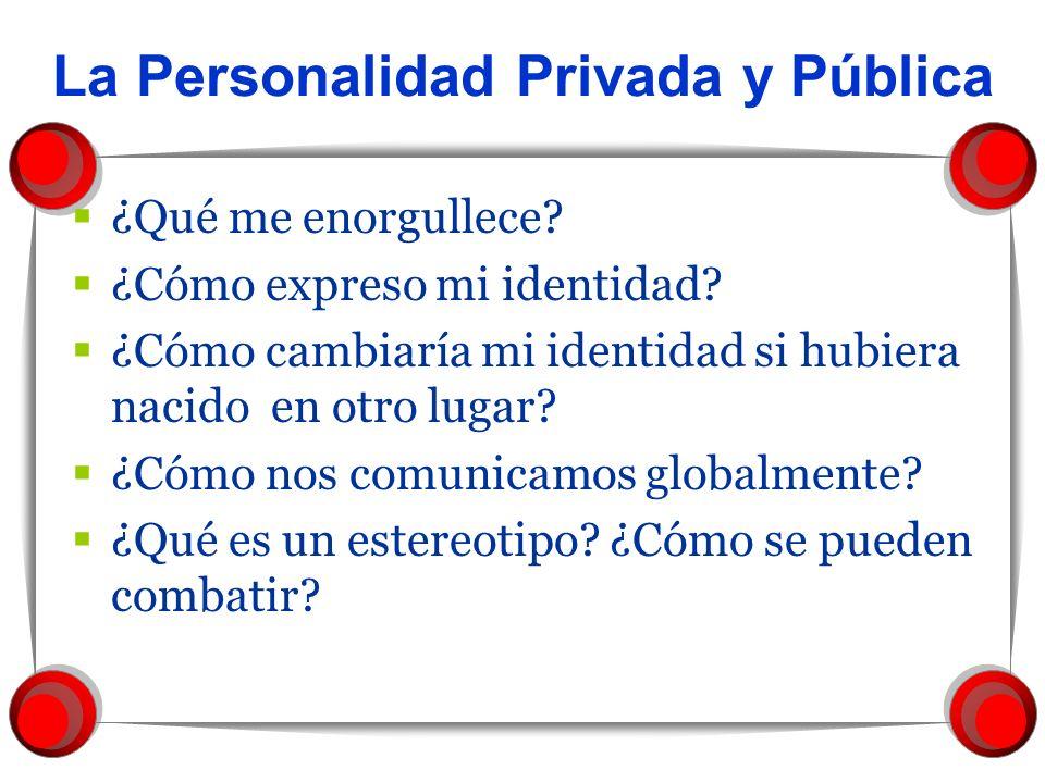 La Personalidad Privada y Pública