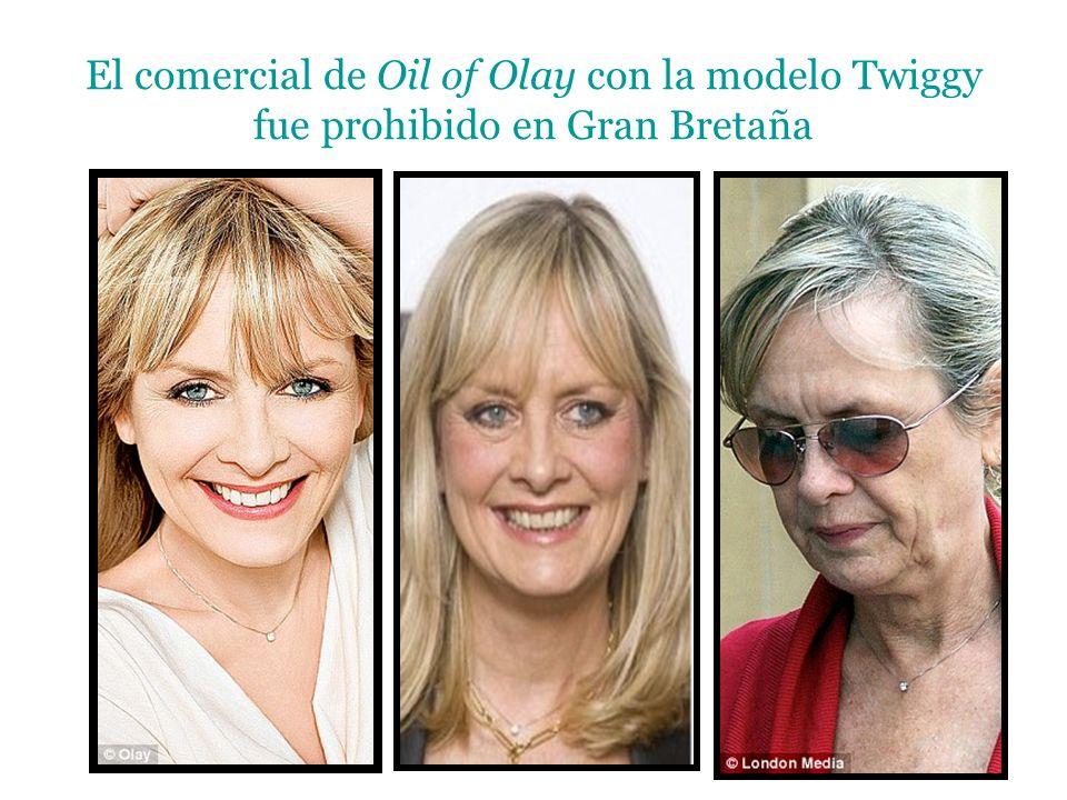 El comercial de Oil of Olay con la modelo Twiggy fue prohibido en Gran Bretaña
