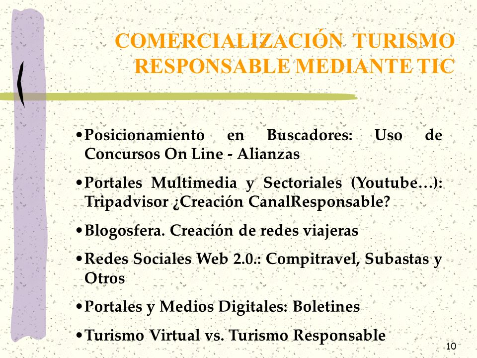 COMERCIALIZACIÓN TURISMO RESPONSABLE MEDIANTE TIC