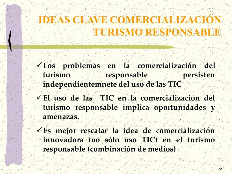 IDEAS CLAVE COMERCIALIZACIÓN TURISMO RESPONSABLE