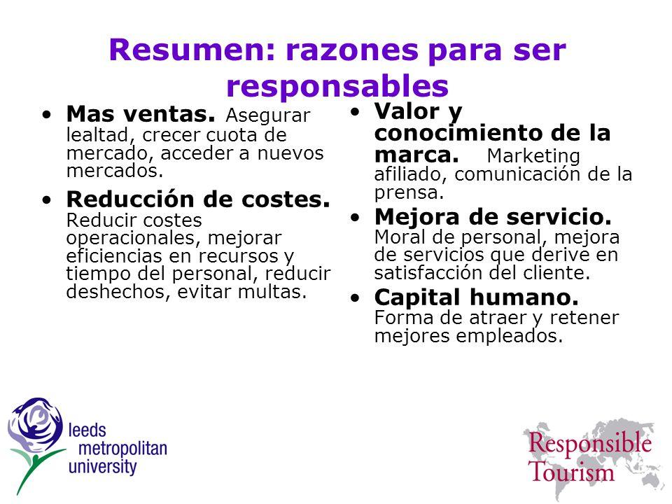 Resumen: razones para ser responsables
