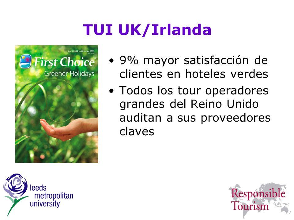 TUI UK/Irlanda 9% mayor satisfacción de clientes en hoteles verdes