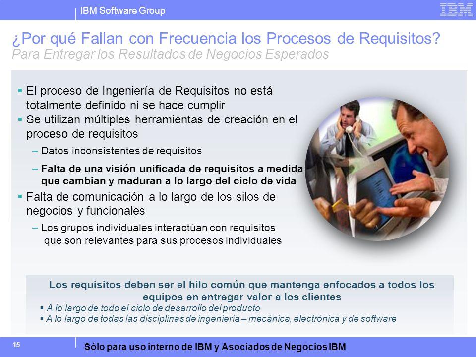 ¿Por qué Fallan con Frecuencia los Procesos de Requisitos