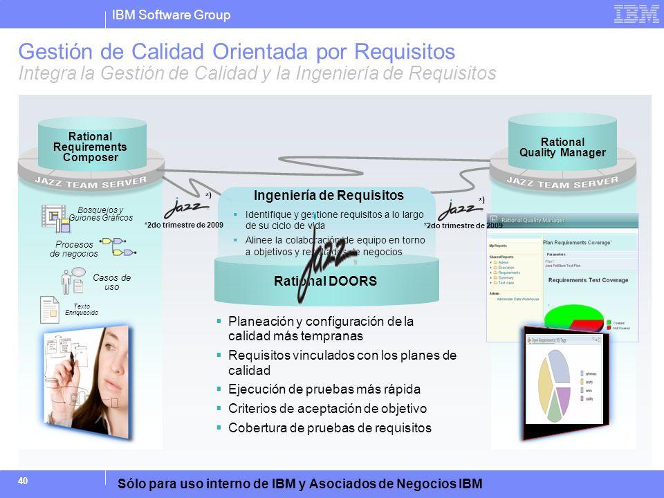 Gestión de Calidad Orientada por Requisitos Integra la Gestión de Calidad y la Ingeniería de Requisitos