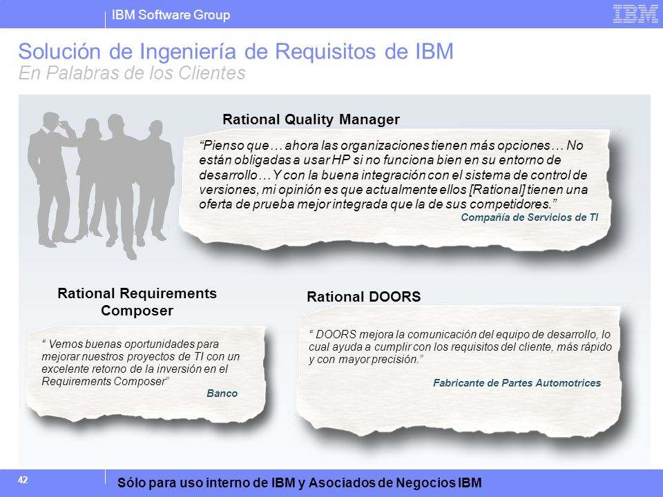 Rational Quality Manager Rational Requirements Composer
