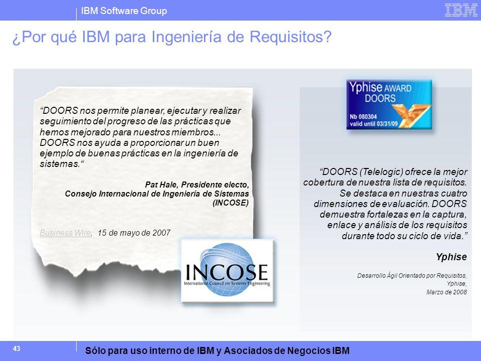 ¿Por qué IBM para Ingeniería de Requisitos