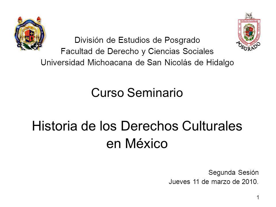 Historia de los Derechos Culturales en México