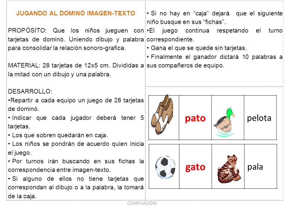 JUGANDO AL DOMINÓ IMAGEN-TEXTO