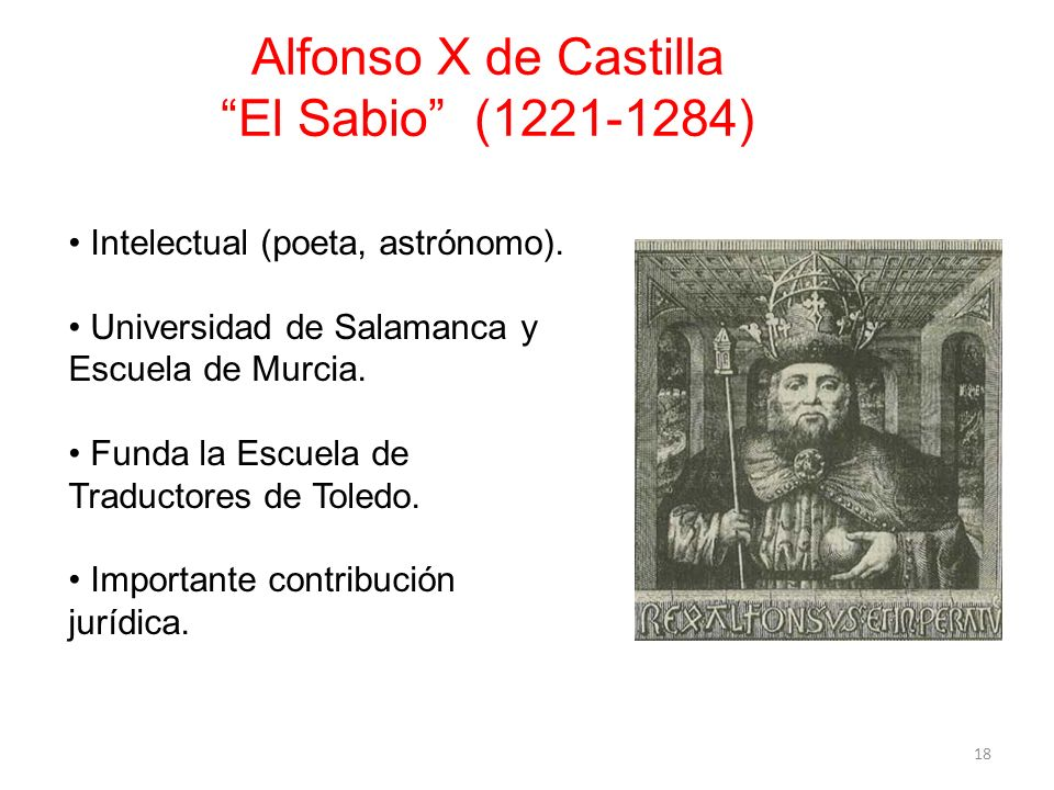 Alfonso X de Castilla El Sabio (1221-1284)