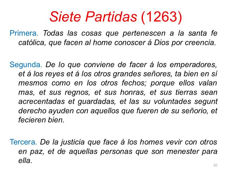 Siete Partidas (1263)