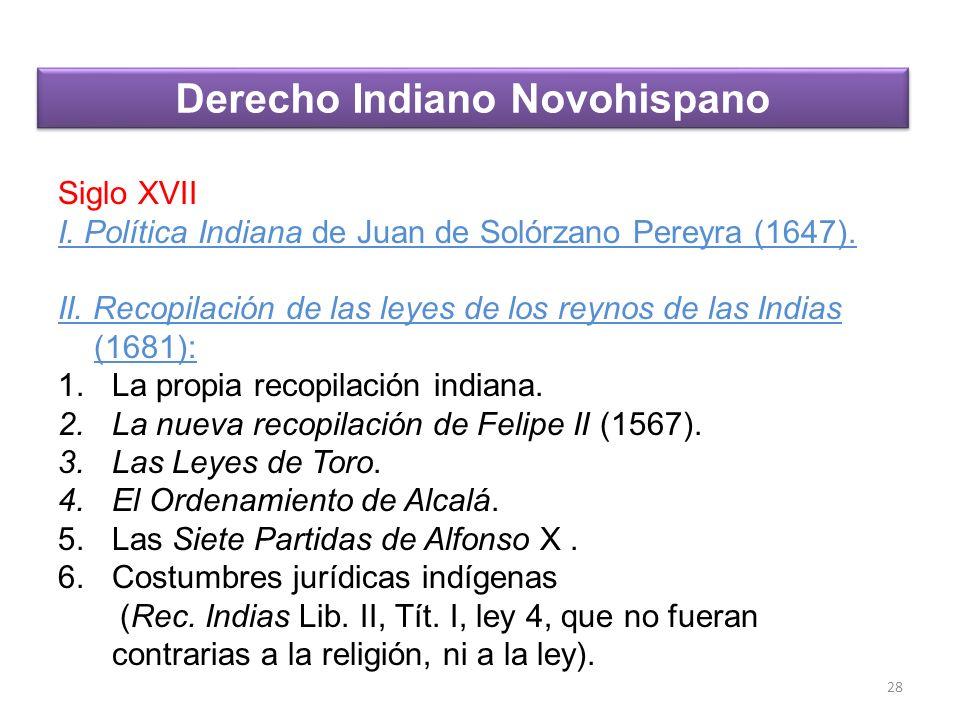Derecho Indiano Novohispano