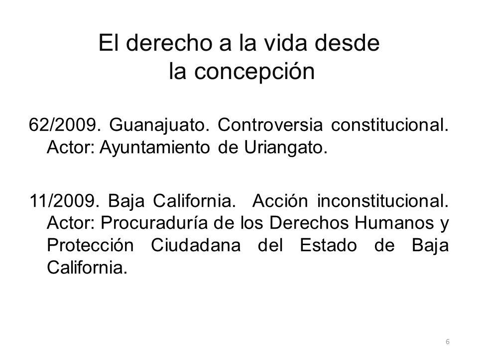 El derecho a la vida desde la concepción