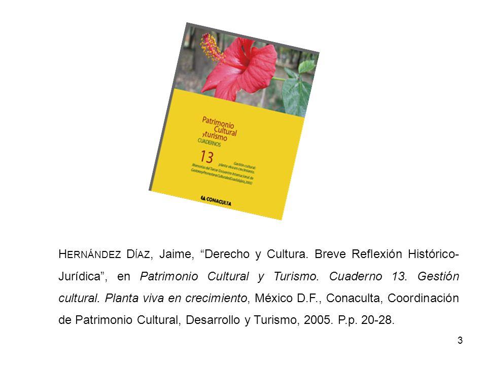 Hernández Díaz, Jaime, Derecho y Cultura