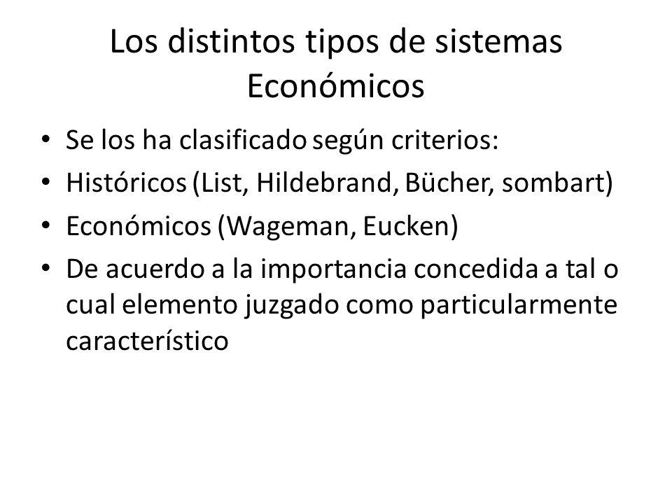 Los distintos tipos de sistemas Económicos