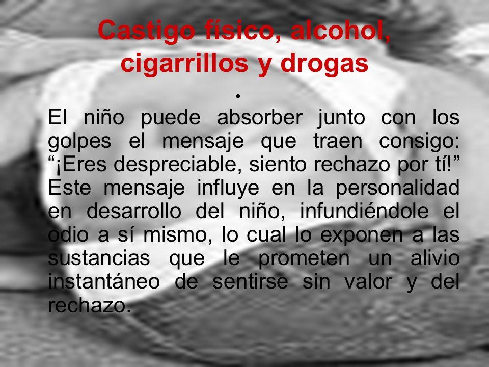 Castigo físico, alcohol, cigarrillos y drogas