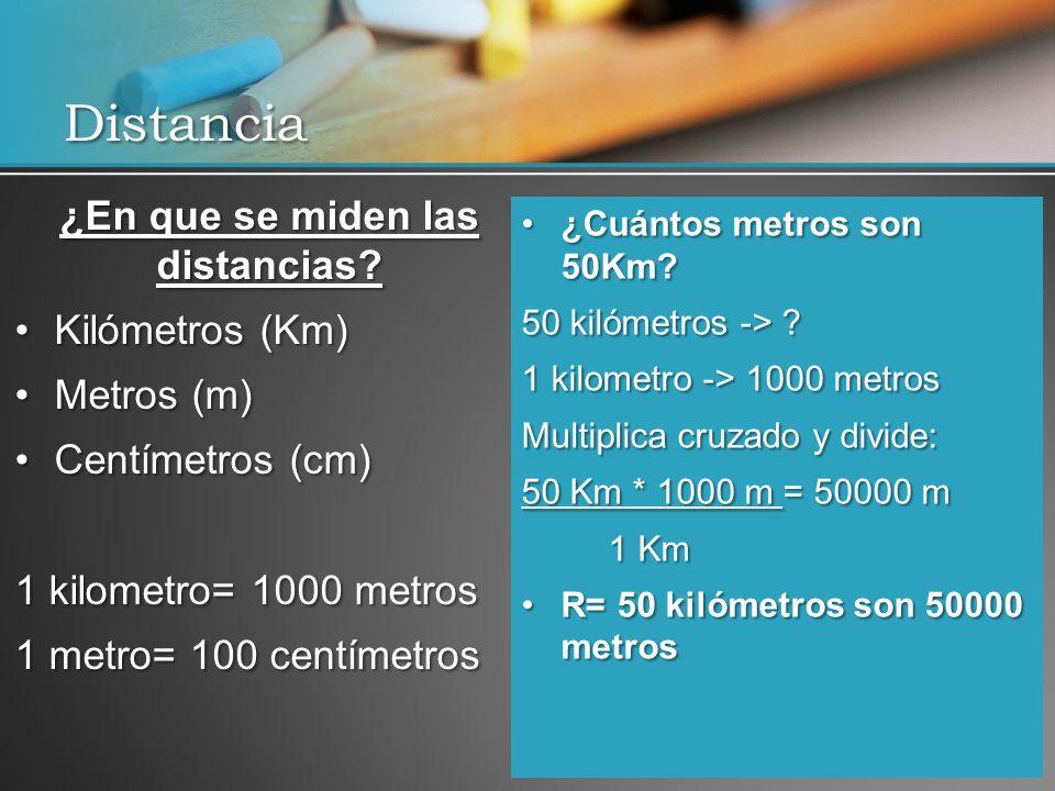 ¿En que se miden las distancias