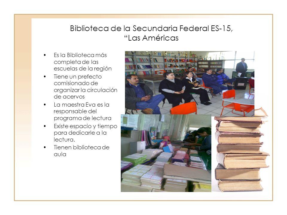 Biblioteca de la Secundaria Federal ES-15, Las Américas