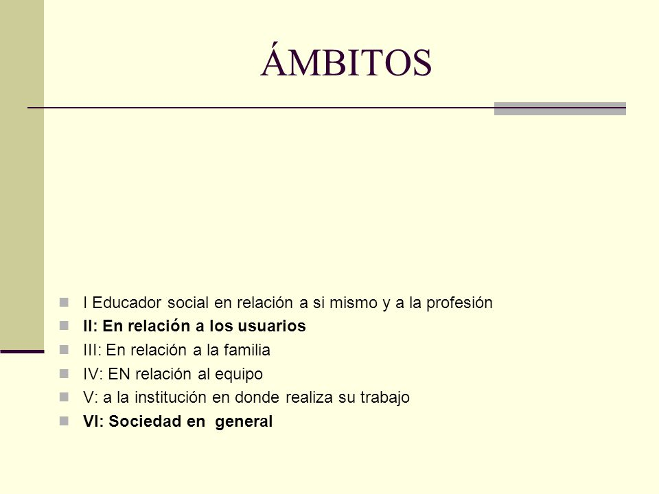 ÁMBITOS I Educador social en relación a si mismo y a la profesión