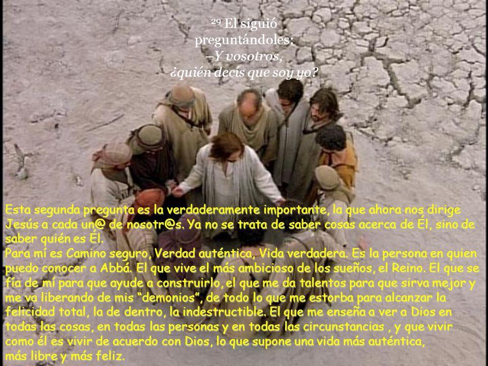 29 El siguió preguntándoles: –Y vosotros, ¿quién decís que soy yo
