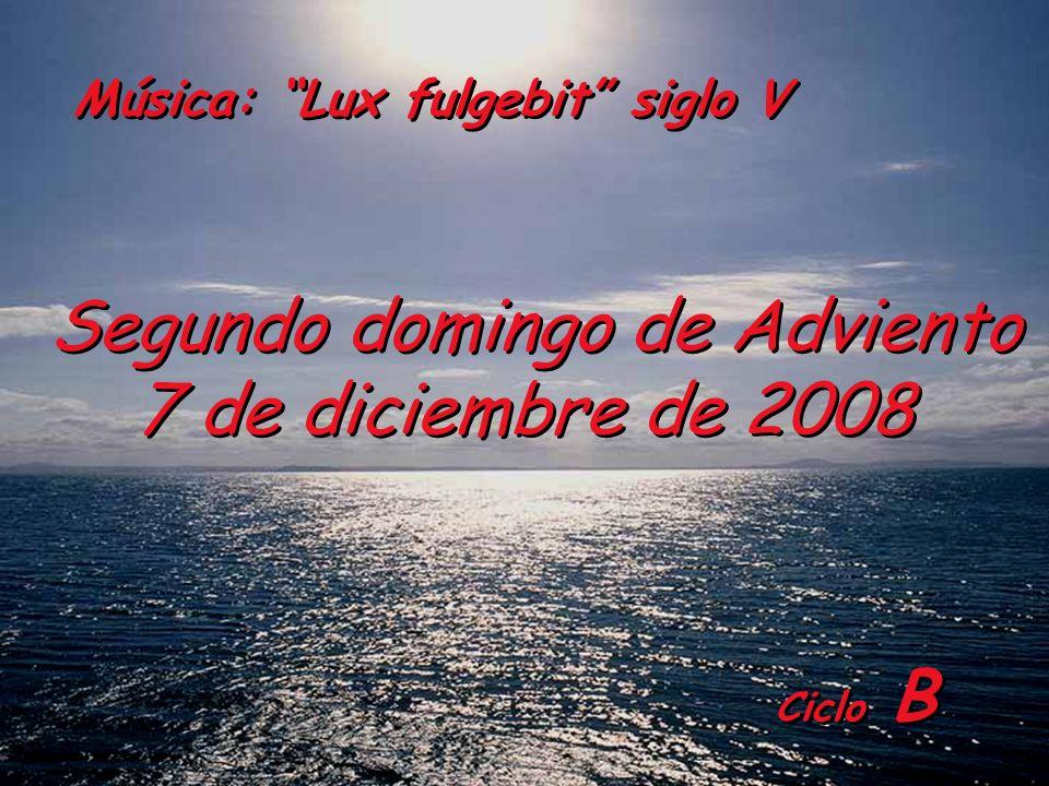 Segundo domingo de Adviento 7 de diciembre de 2008