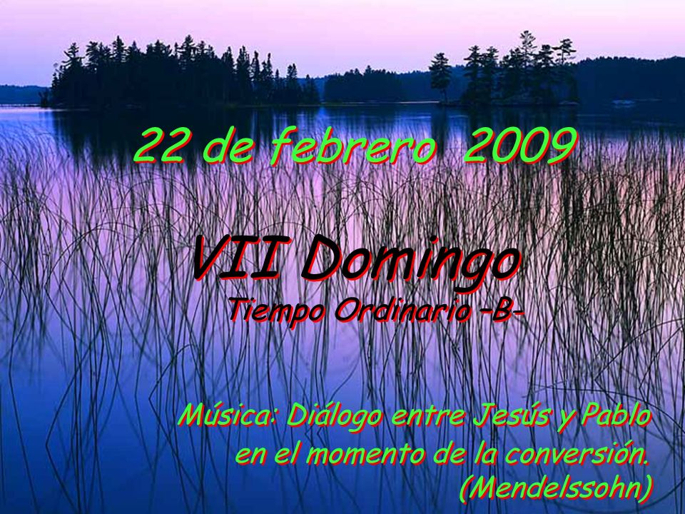 22 de febrero 2009 VII Domingo.