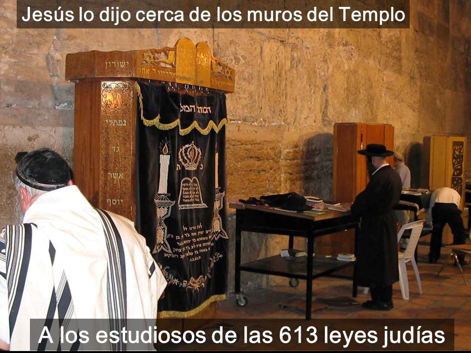 A los estudiosos de las 613 leyes judías
