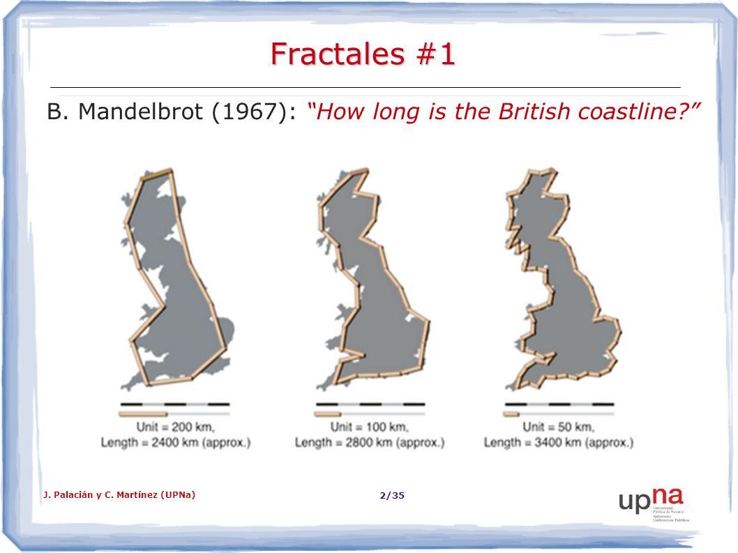 B. Mandelbrot (1967): How long is the British coastline