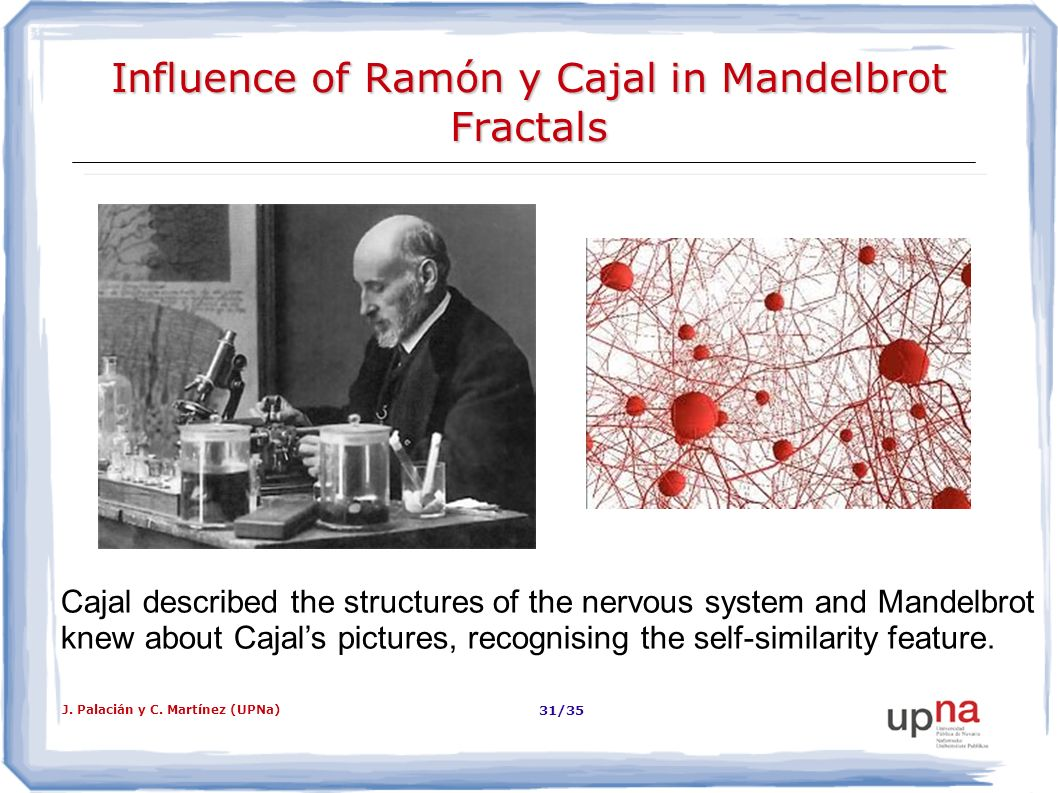 Influence of Ramón y Cajal in Mandelbrot Fractals