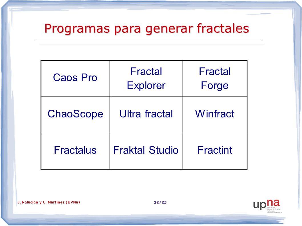 Programas para generar fractales