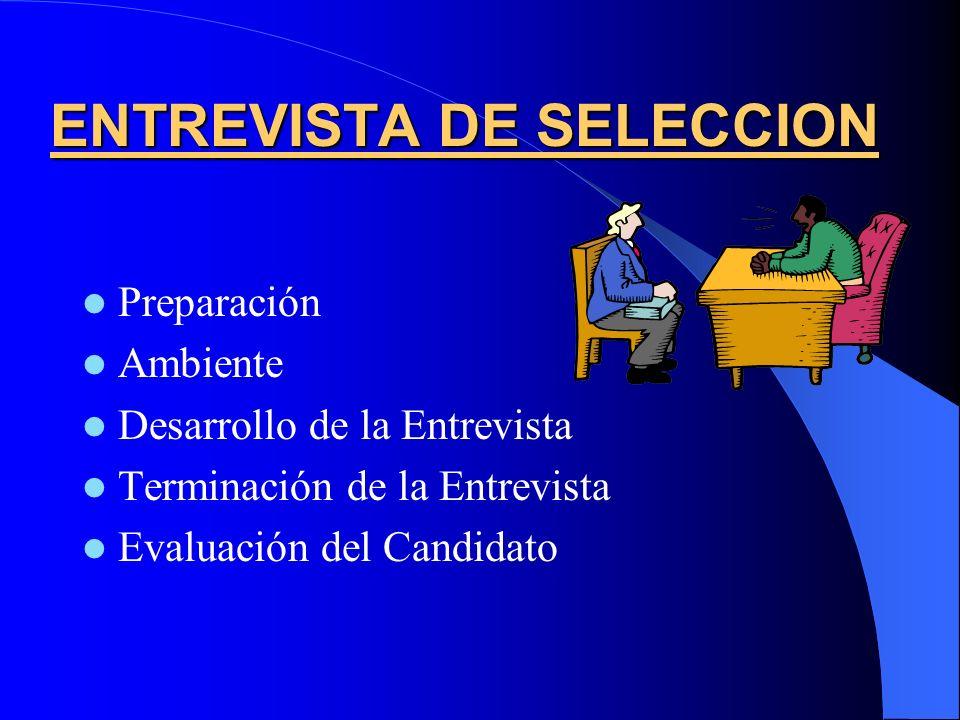 ENTREVISTA DE SELECCION