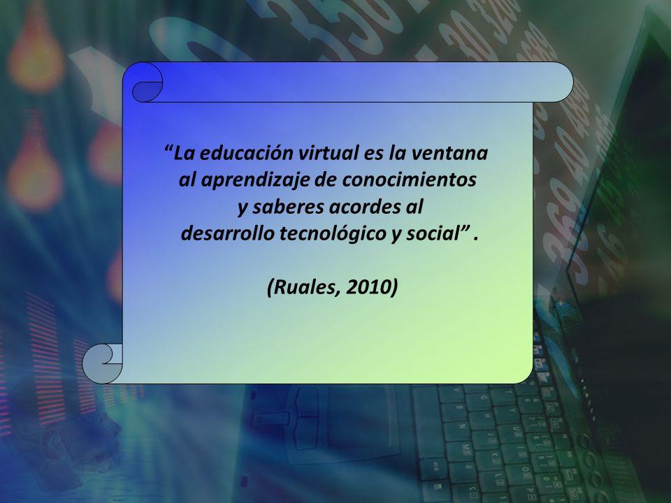 La educación virtual es la ventana al aprendizaje de conocimientos