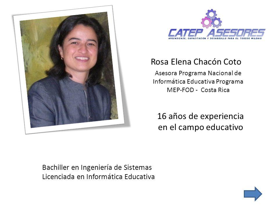 16 años de experiencia en el campo educativo