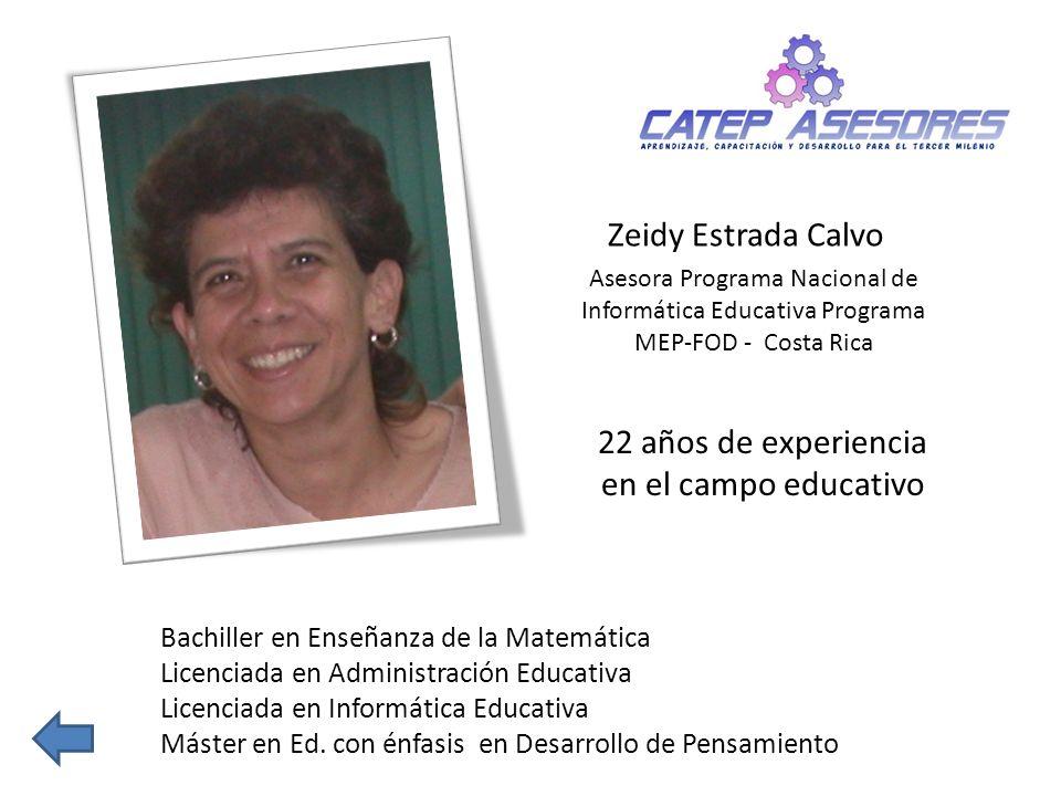 22 años de experiencia en el campo educativo