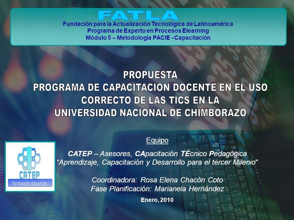 FATLA PROPUESTA PROGRAMA DE CAPACITACIÓN DOCENTE EN EL USO