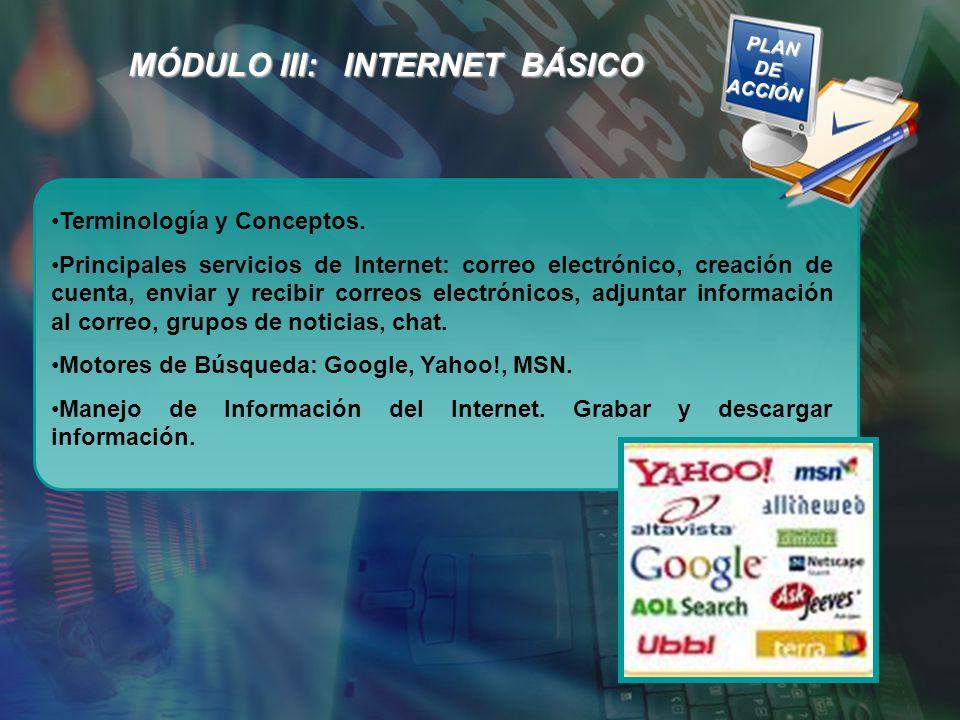MÓDULO III: INTERNET BÁSICO