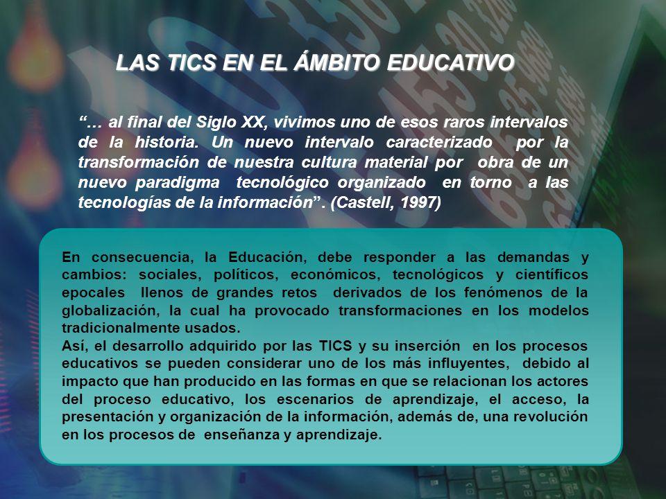 LAS TICS EN EL ÁMBITO EDUCATIVO