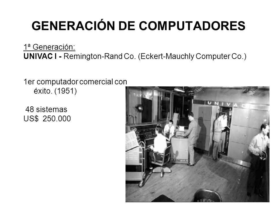 GENERACIÓN DE COMPUTADORES