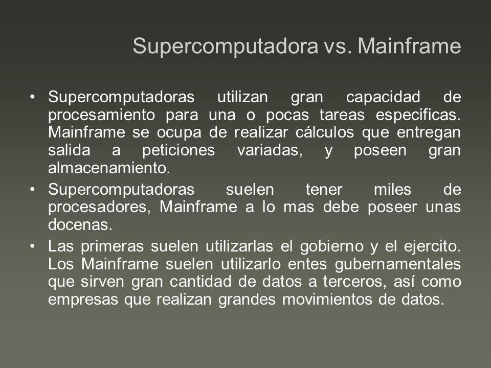 Supercomputadora vs. Mainframe