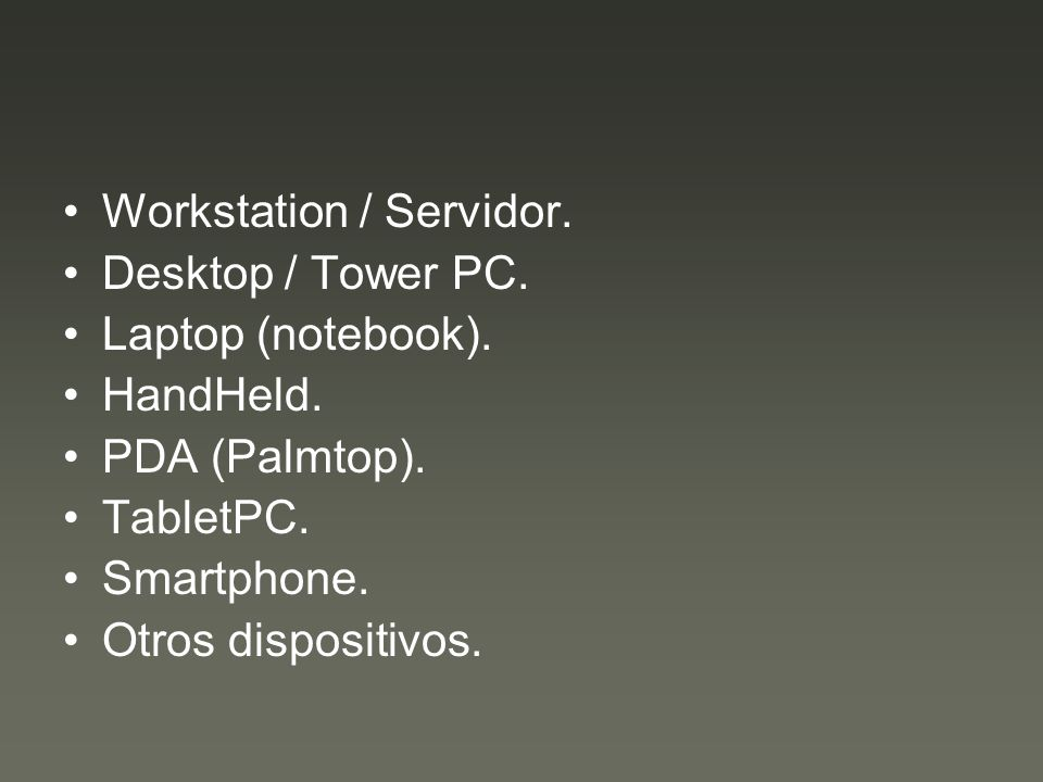 Workstation / Servidor.
