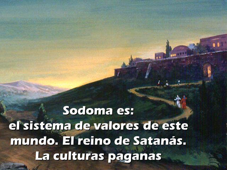 Sodoma es: el sistema de valores de este mundo. El reino de Satanás