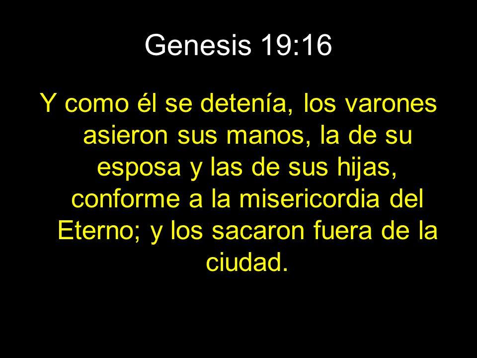 Genesis 19:16